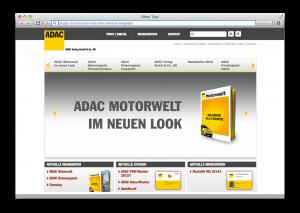 ADAC Verlag Website
