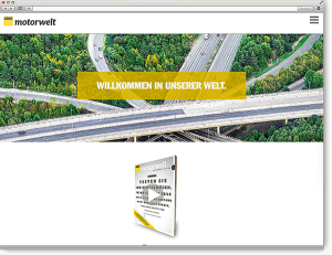 ADAC Motorwelt: Onepager, Scroll Site, animierte Diagramme, Flippage, Movies, Responsive, Typo3