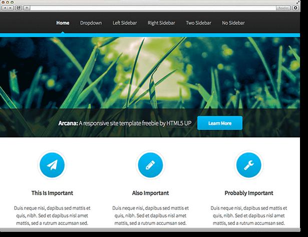 TYPO3 Theme Arcana (HTML 5)