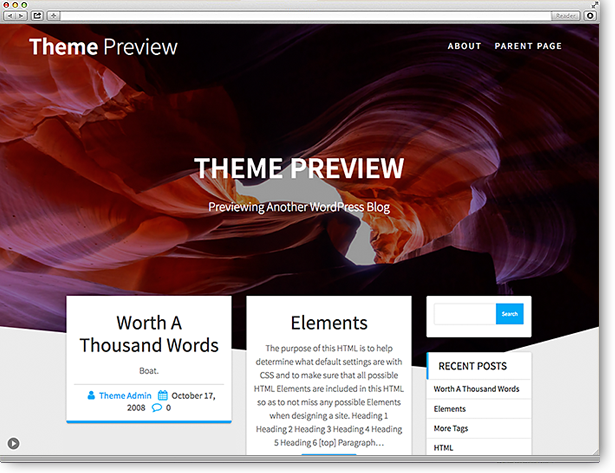 WordPress Theme One Page Express