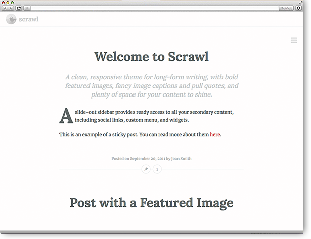 WordPress Theme Scrawl