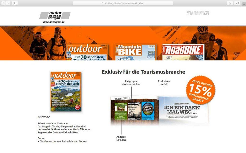 Travelcenter Motorpresse Stuttgart HTML, CSS, PHP – Adresshandling